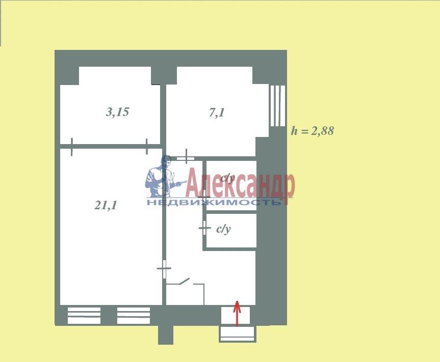 Квартира (39м2) в аренду — фото 1 из 8