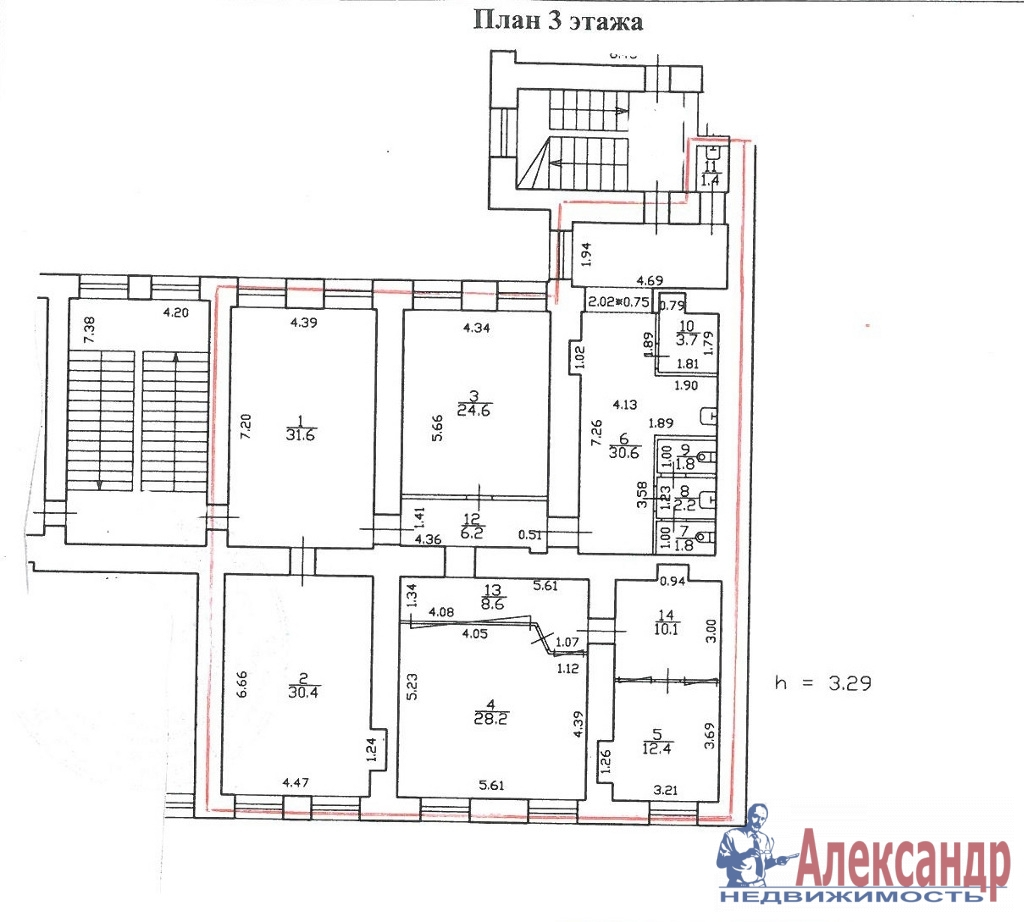 Офис (194м2) в аренду — фото 4 из 6
