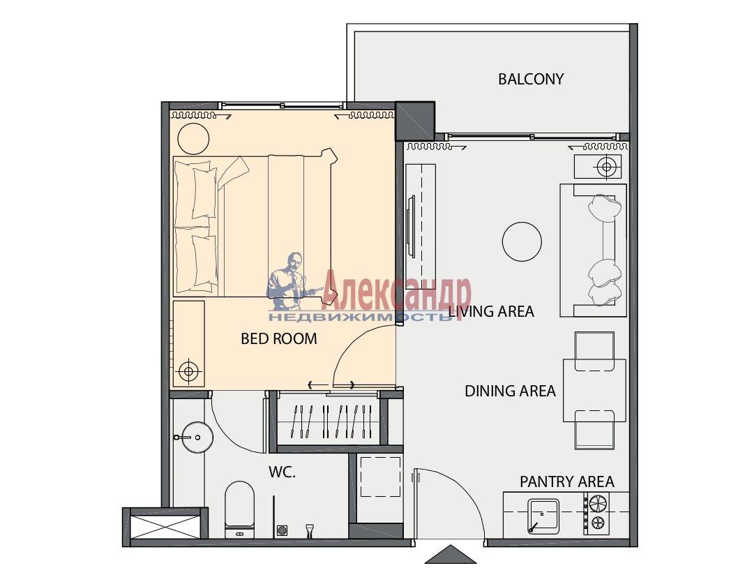 Квартира (35м2) на продажу — фото 14 из 16