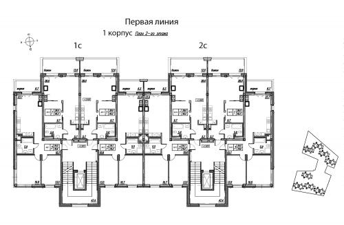 1-комнатная квартира на продажу (61,8 м<sup>2</sup>)