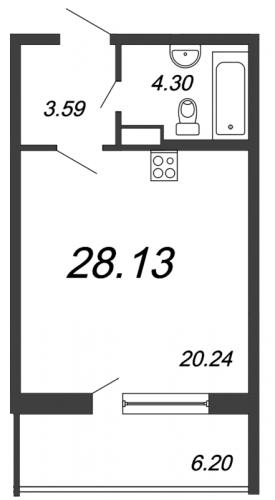 Студия на продажу (28,1 м<sup>2</sup>)