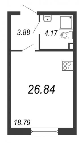 Студия на продажу (26,8 м<sup>2</sup>)