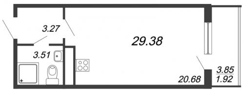 Студия на продажу (29,4 м<sup>2</sup>)