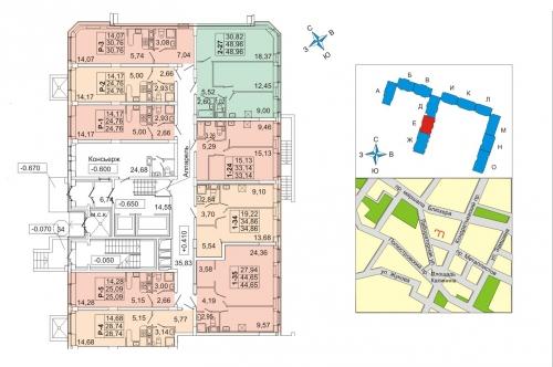 2-комнатная квартира на продажу (45,0 м<sup>2</sup>)