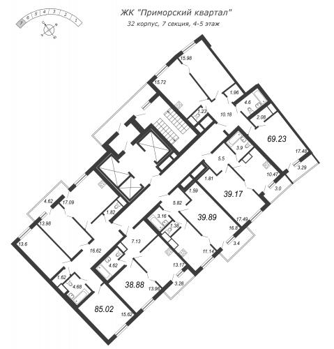 4-комнатная квартира на продажу (85,0 м<sup>2</sup>)