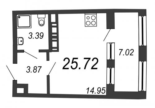 Студия на продажу (25,7 м<sup>2</sup>)