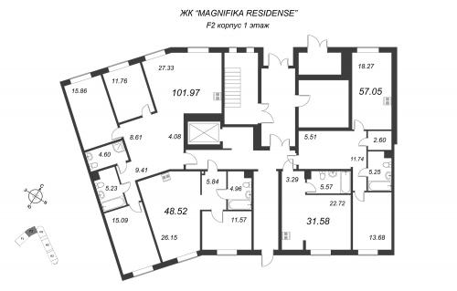 4-комнатная квартира на продажу (102,0 м<sup>2</sup>)