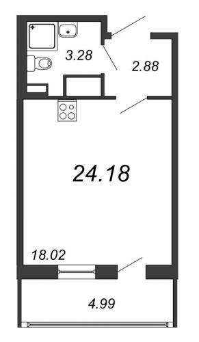 Студия на продажу (24,2 м<sup>2</sup>)