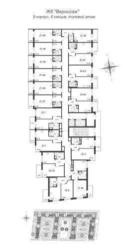 1-комнатная квартира на продажу (31,1 м<sup>2</sup>)