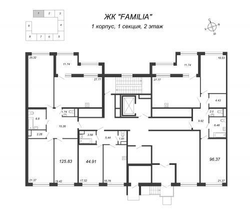 4-комнатная квартира на продажу (125,8 м<sup>2</sup>)