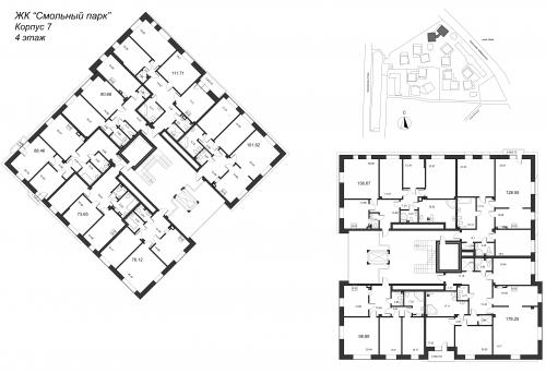 3-комнатная квартира на продажу (131,3 м<sup>2</sup>)