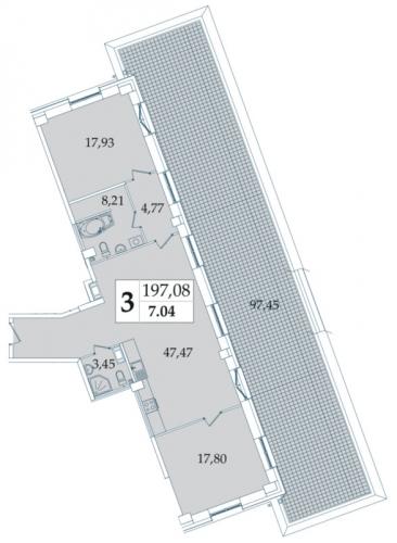 3-комнатная квартира на продажу (197,5 м<sup>2</sup>)