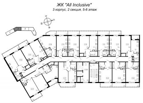 2-комнатная квартира на продажу (36,6 м<sup>2</sup>)