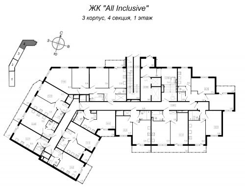 1-комнатная квартира на продажу (34,8 м<sup>2</sup>)