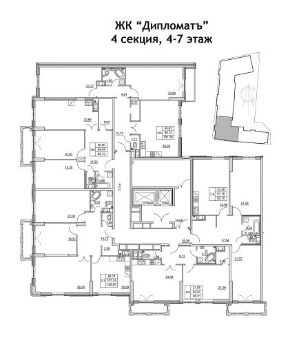 2-комнатная квартира на продажу (93,1 м<sup>2</sup>)