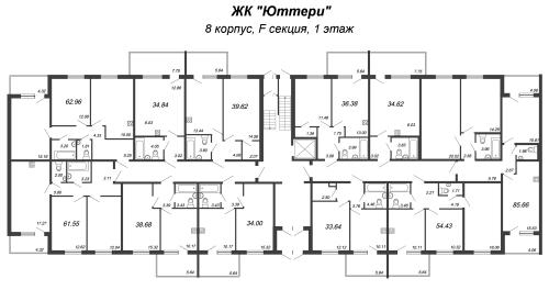 1-комнатная квартира на продажу (34,0 м<sup>2</sup>)