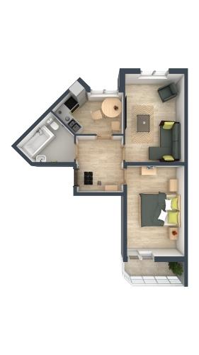 2-комнатная квартира на продажу (48,0 м<sup>2</sup>)