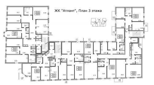 2-комнатная квартира на продажу (86,5 м<sup>2</sup>)