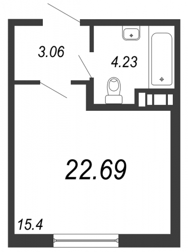 Студия на продажу (22,9 м<sup>2</sup>)