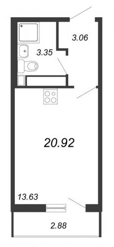 Студия на продажу (20,9 м<sup>2</sup>)