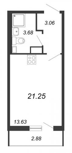 Студия на продажу (21,3 м<sup>2</sup>)
