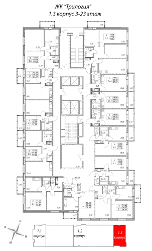 2-комнатная квартира на продажу (55,5 м<sup>2</sup>)