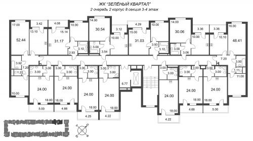 1-комнатная квартира на продажу (30,5 м<sup>2</sup>)