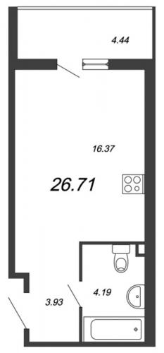 Студия на продажу (26,7 м<sup>2</sup>)
