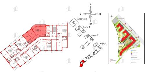 3-комнатная квартира на продажу (80,3 м<sup>2</sup>)
