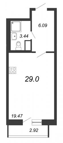 Студия на продажу (29,0 м<sup>2</sup>)