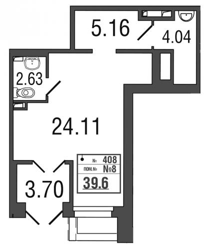 Коммерческая недвижимость на продажу (39,4 м<sup>2</sup>)