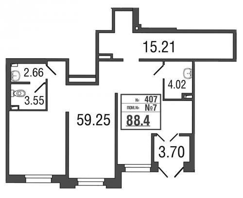 Коммерческая недвижимость на продажу (88,0 м<sup>2</sup>)