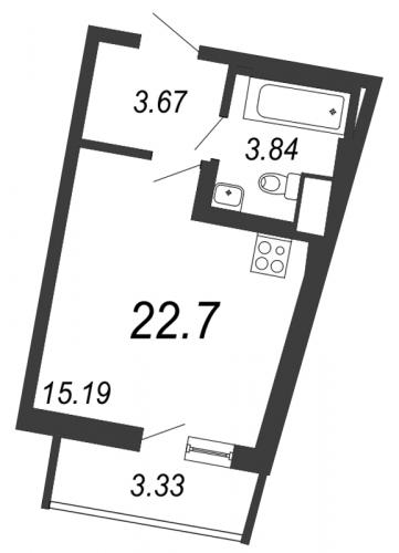 Студия на продажу (22,7 м<sup>2</sup>)