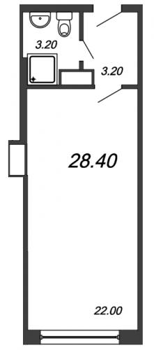Студия на продажу (28,4 м<sup>2</sup>)