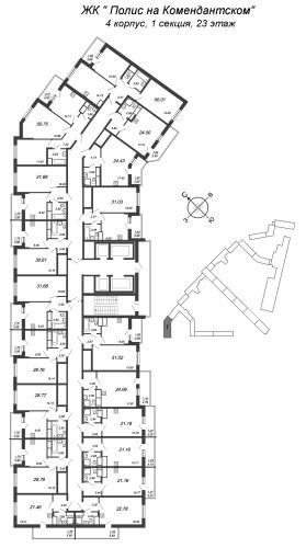 1-комнатная квартира на продажу (28,8 м<sup>2</sup>)
