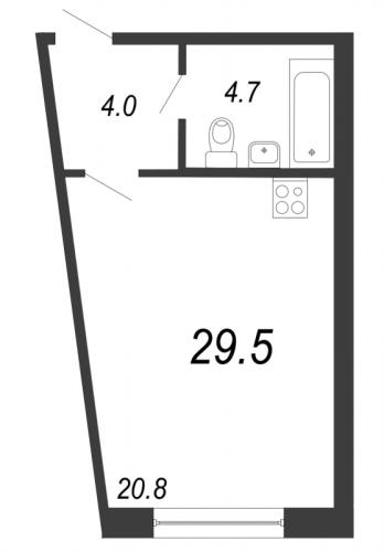 Студия на продажу (29,5 м<sup>2</sup>)