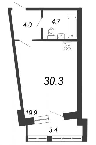 Студия на продажу (30,3 м<sup>2</sup>)