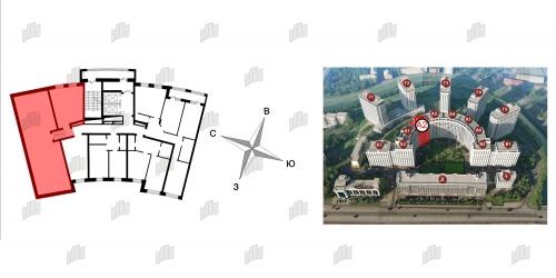 3-комнатная квартира на продажу (101,2 м<sup>2</sup>)