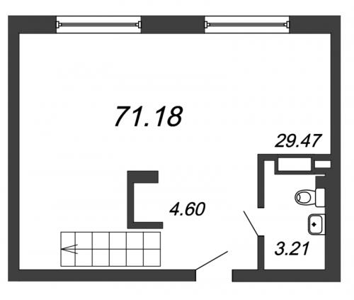 3-комнатная квартира на продажу (71,2 м<sup>2</sup>)