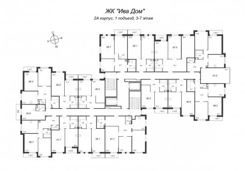 1-комнатная квартира на продажу (40,1 м<sup>2</sup>)