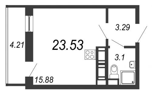 Студия на продажу (24,7 м<sup>2</sup>)