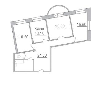 3-комнатная квартира на продажу (100,6 м<sup>2</sup>)