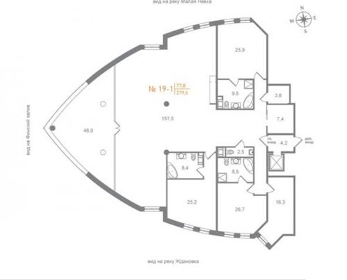 4-комнатная квартира на продажу (325,0 м<sup>2</sup>)