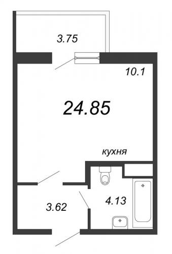 Студия на продажу (24,9 м<sup>2</sup>)