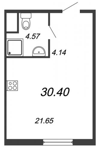 Студия на продажу (30,4 м<sup>2</sup>)