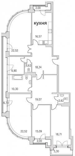 4-комнатная квартира на продажу (159,9 м<sup>2</sup>)