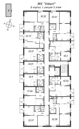 2-комнатная квартира на продажу (37,8 м<sup>2</sup>)
