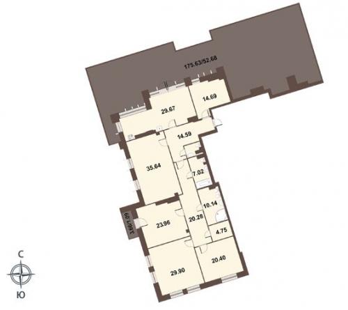 4-комнатная квартира на продажу (269,6 м<sup>2</sup>)
