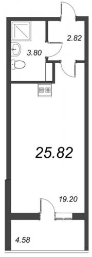 Студия на продажу (25,8 м<sup>2</sup>)