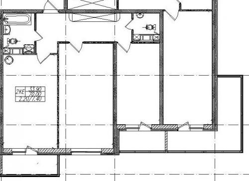2-комнатная квартира на продажу (72,2 м<sup>2</sup>)
